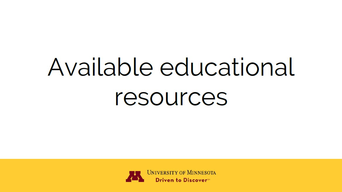Available Educational Resources