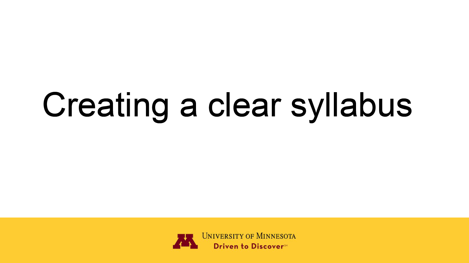 creating a clear syllabus