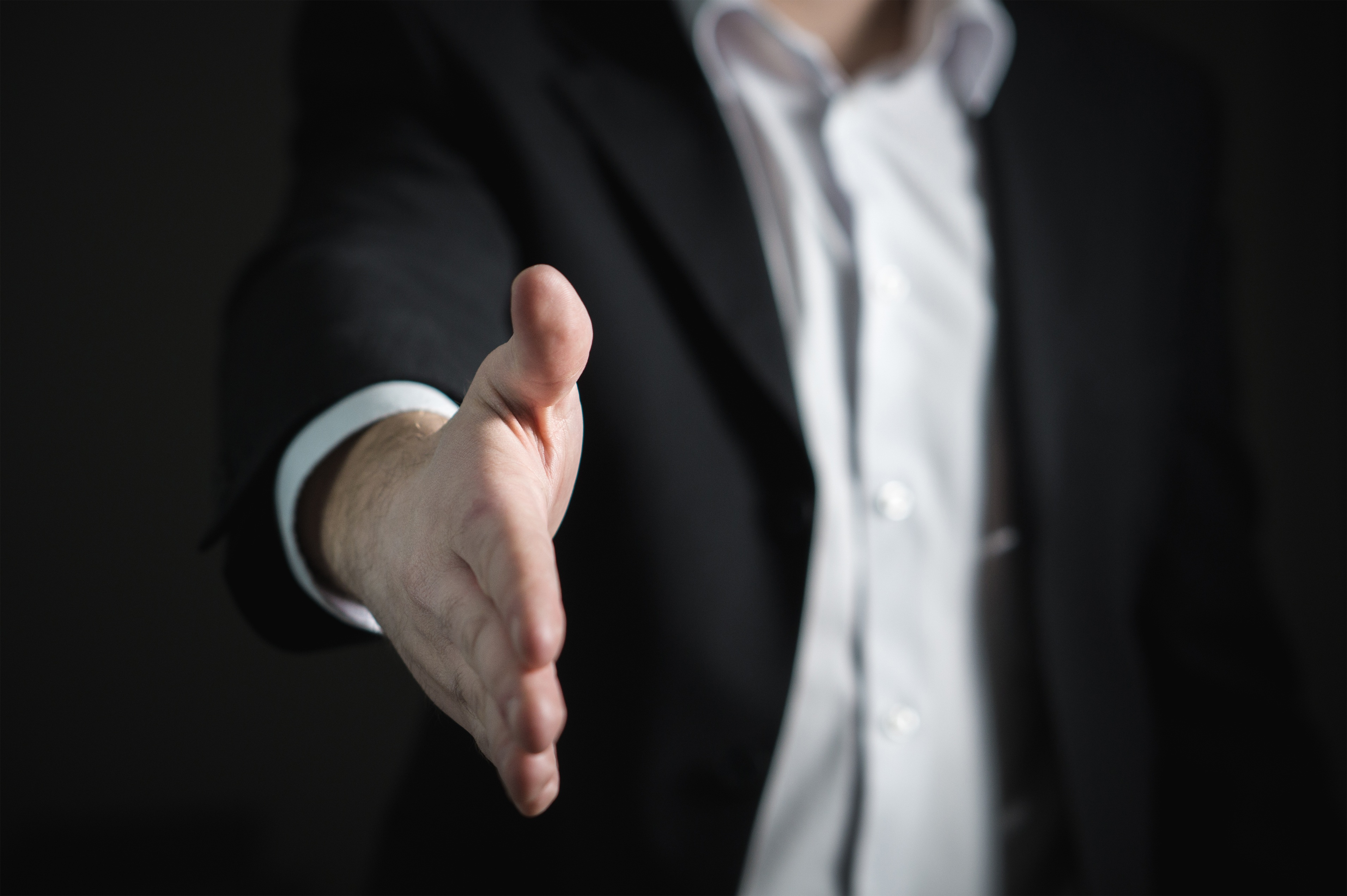Picture of a close-up hand shake by a man