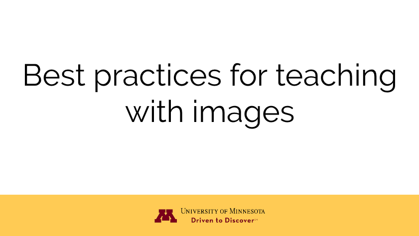 Best practices for teaching with images
