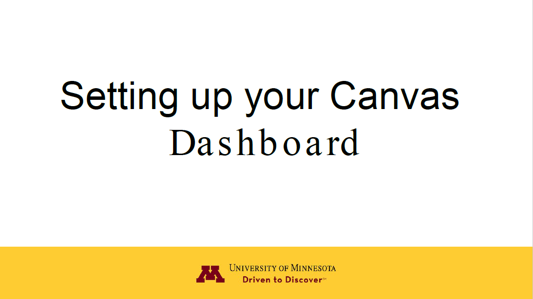Setting up your canvas dashboard image