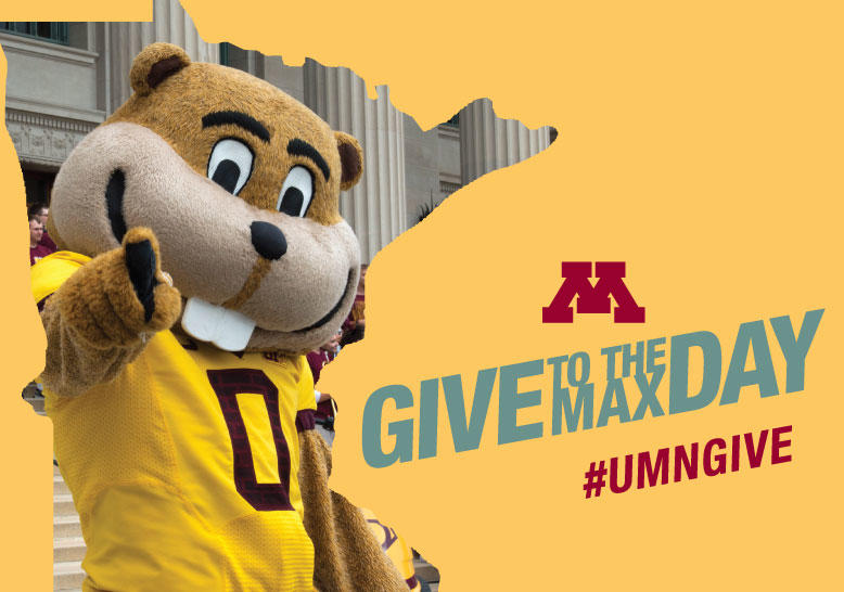 Give to the Max Day banner with 2020 date and Goldy image