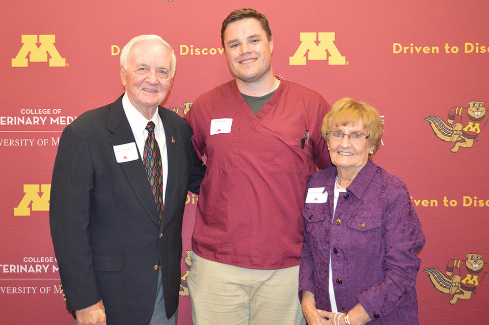 Student and donors zach bradley and ramsdell family